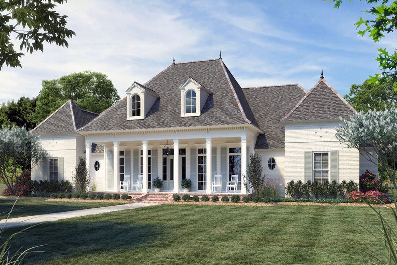 House Blueprint - Southern Exterior - Front Elevation Plan #1074-52