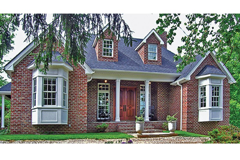 Country Exterior - Front Elevation Plan #314-284 - Houseplans.com