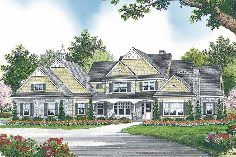 Dream House Plan - Country Exterior - Front Elevation Plan #453-460