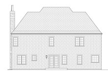 Architectural House Design - Country Exterior - Rear Elevation Plan #453-442
