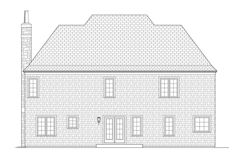 Country Exterior - Rear Elevation Plan #453-442 - Houseplans.com