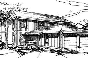 Modern Exterior - Front Elevation Plan #303-252
