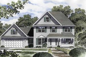Country Exterior - Front Elevation Plan #316-211