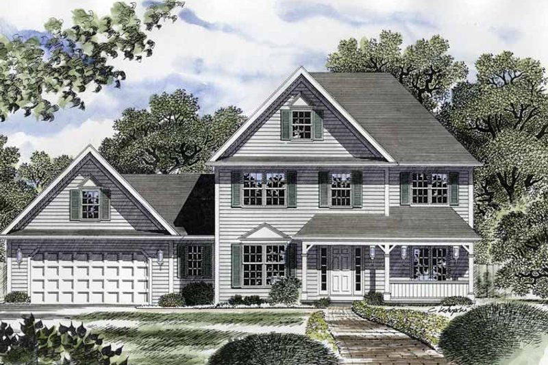 Country Exterior - Front Elevation Plan #316-211 - Houseplans.com