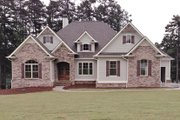 European Style House Plan - 4 Beds 5 Baths 3907 Sq/Ft Plan #437-70 Exterior - Front Elevation