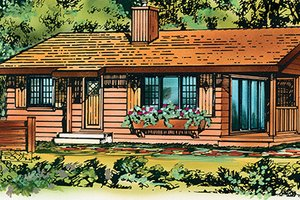 Architectural House Design - Ranch Exterior - Front Elevation Plan #47-1033