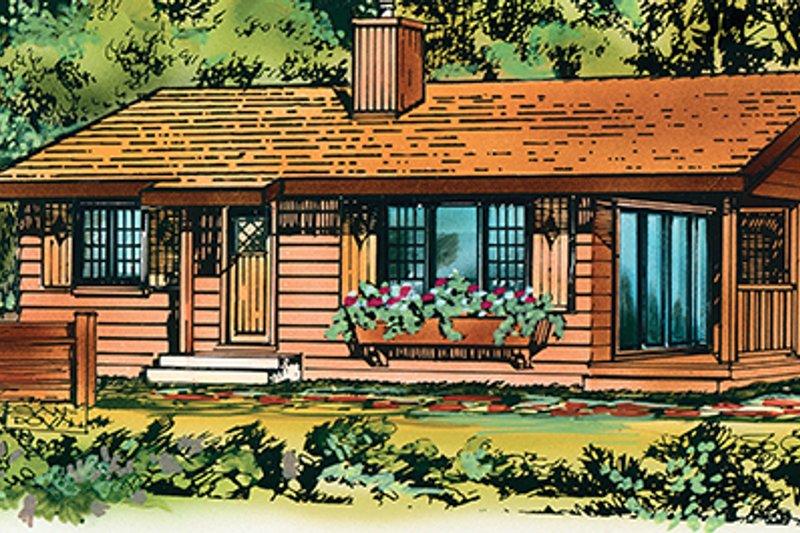 House Blueprint - Ranch Exterior - Front Elevation Plan #47-1033