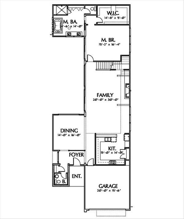 Modern Floor Plan - Main Floor Plan Plan #449-7