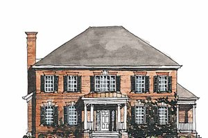 Classical Exterior - Front Elevation Plan #429-185