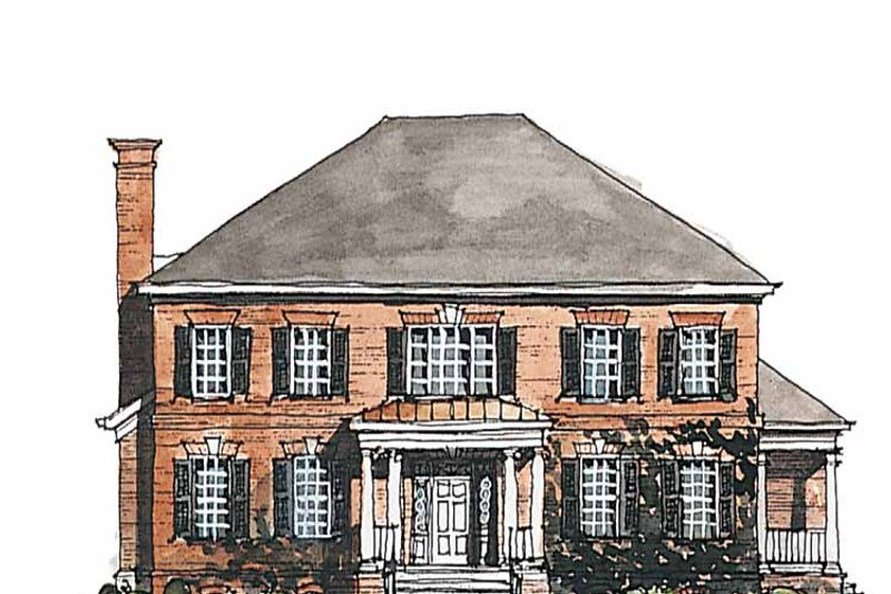 Home Plan - Classical Exterior - Front Elevation Plan #429-185