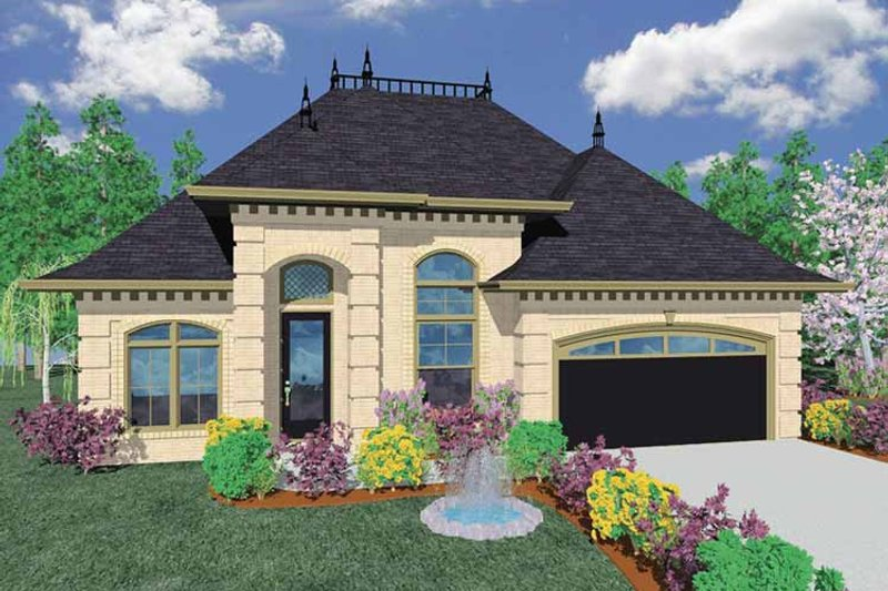 Traditional Exterior - Front Elevation Plan #509-259 - Houseplans.com