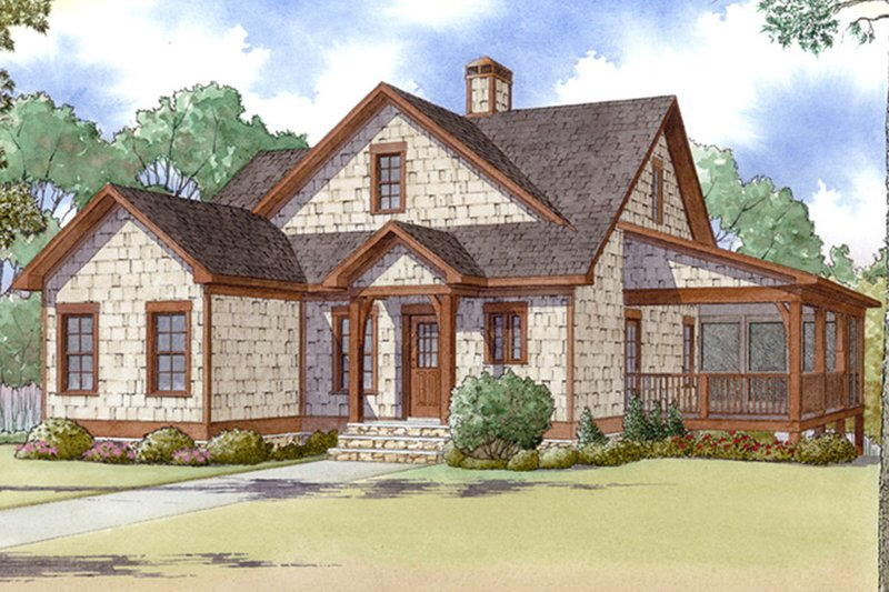 Architectural House Design - Craftsman Exterior - Front Elevation Plan #17-3370