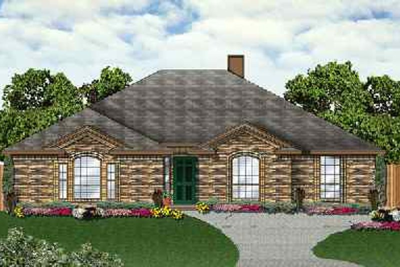 Traditional Exterior - Front Elevation Plan #84-128 - Houseplans.com
