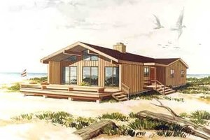 Architectural House Design - Contemporary Exterior - Front Elevation Plan #314-269