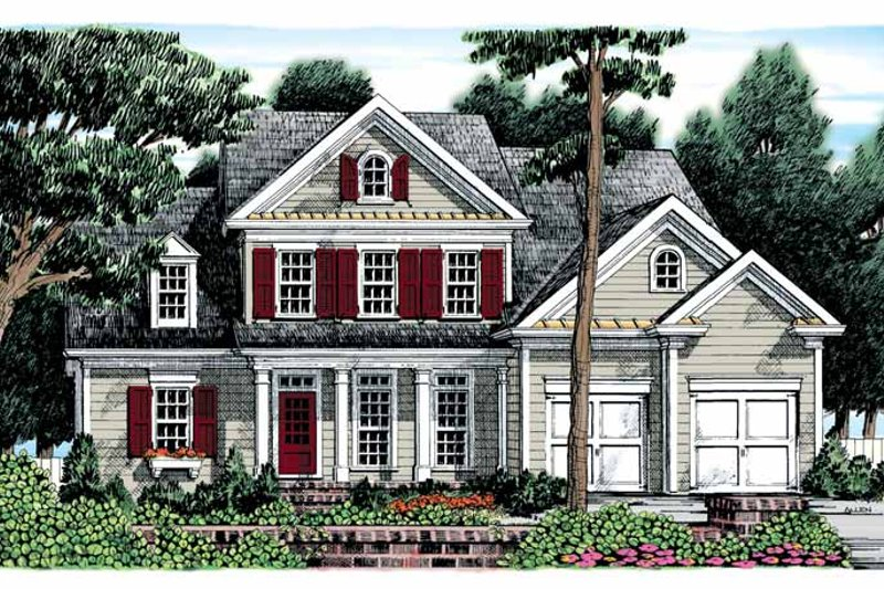Colonial Exterior - Front Elevation Plan #927-876 - Houseplans.com