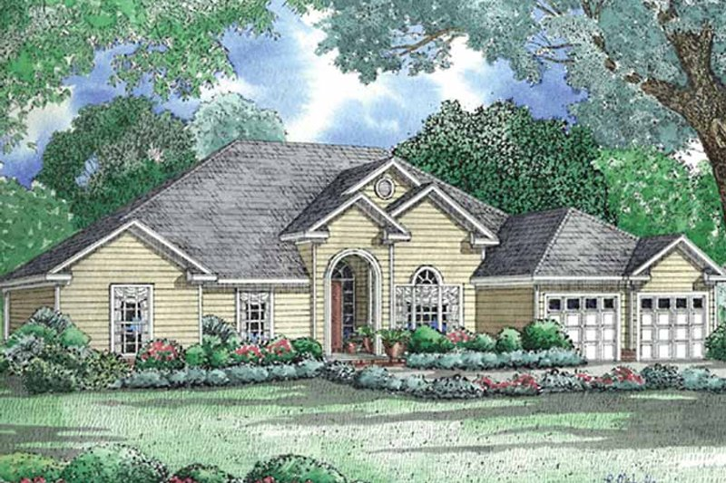 Ranch Exterior - Front Elevation Plan #17-3031 - Houseplans.com
