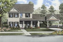 Colonial Exterior - Front Elevation Plan #17-2872
