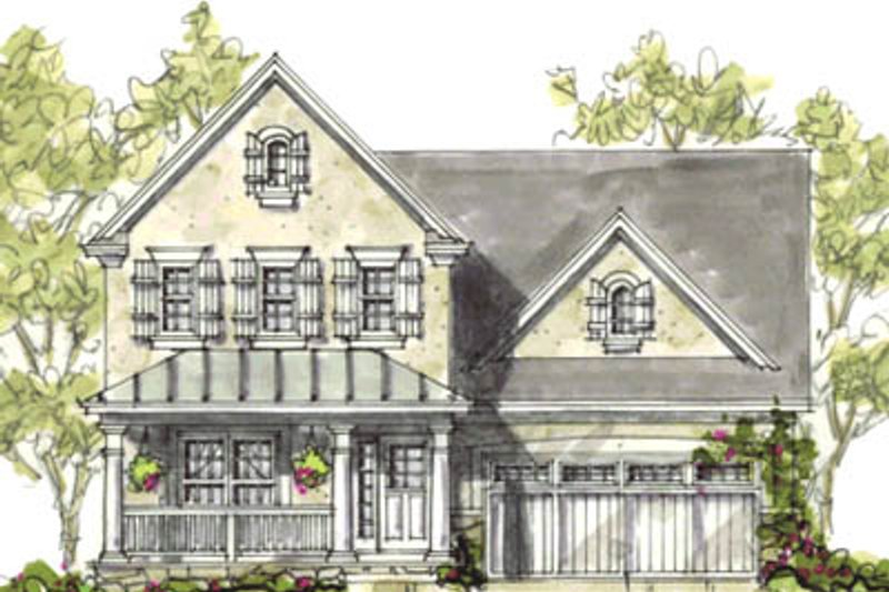 Home Plan - Farmhouse Exterior - Front Elevation Plan #20-1212