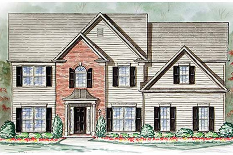 Country Exterior - Front Elevation Plan #54-246