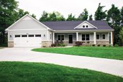 Ranch Style House Plan - 3 Beds 2.5 Baths 3588 Sq/Ft Plan #928-2 Exterior - Front Elevation