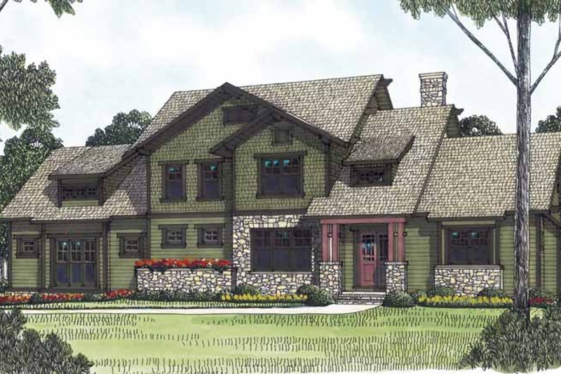 House Plan Design - Craftsman Exterior - Front Elevation Plan #453-558