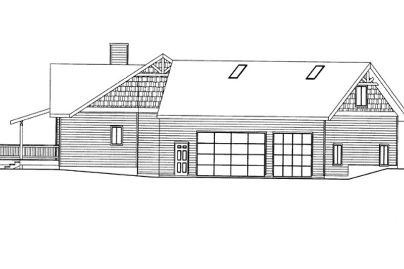 Ranch Exterior - Other Elevation Plan #117-848 - Houseplans.com