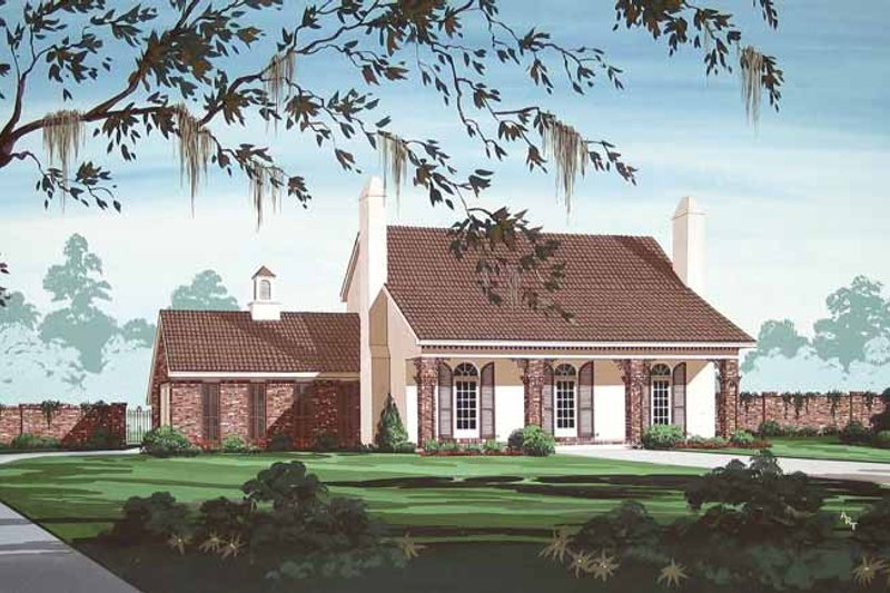 Dream House Plan - Traditional Exterior - Front Elevation Plan #45-417