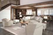 Craftsman Style House Plan - 3 Beds 2.5 Baths 2726 Sq/Ft Plan #124-680 Interior - Family Room