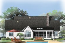 Dream House Plan - Traditional Exterior - Rear Elevation Plan #929-965