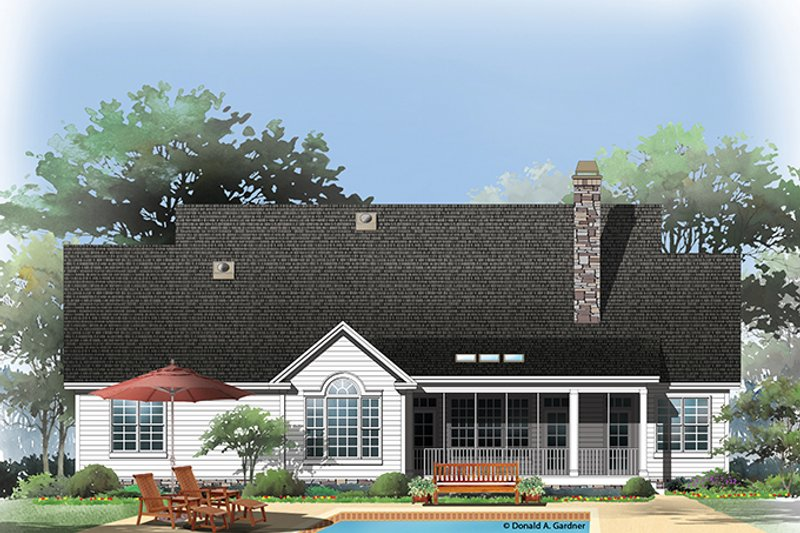 Traditional Exterior - Rear Elevation Plan #929-965 - Houseplans.com