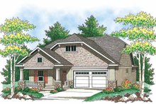 Ranch Exterior - Front Elevation Plan #70-1403