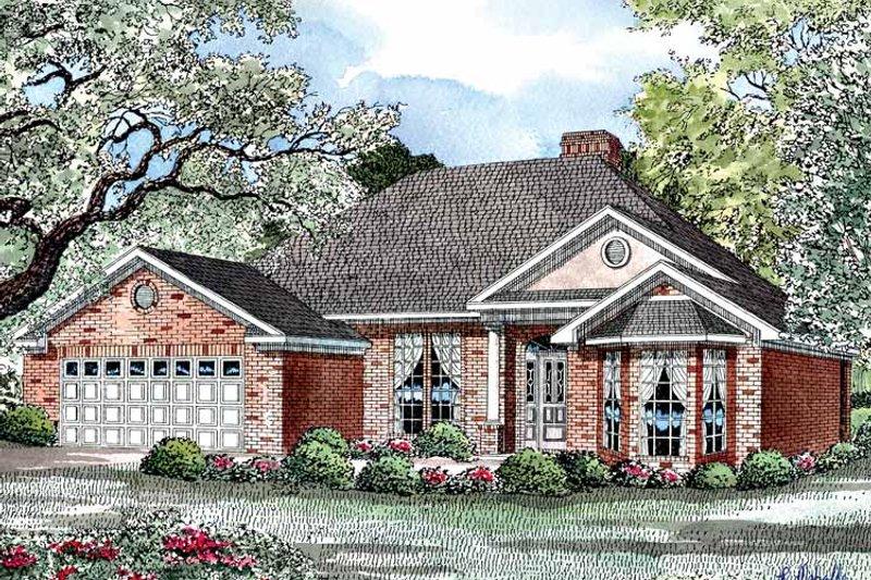 Ranch Exterior - Front Elevation Plan #17-3252 - Houseplans.com