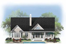 Home Plan - Country Exterior - Rear Elevation Plan #929-888