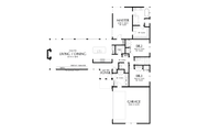 Contemporary Style House Plan - 3 Beds 2.5 Baths 2110 Sq/Ft Plan #48-1001 Floor Plan - Main Floor Plan