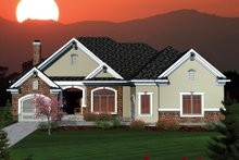House Design - Ranch Exterior - Front Elevation Plan #70-1064