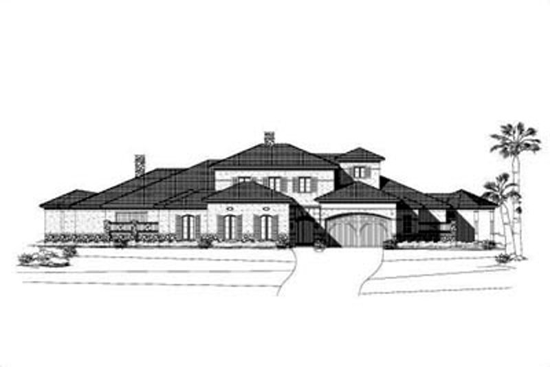 Mediterranean Style House Plan - 2 Beds 3.5 Baths 7316 Sq/Ft Plan #411-114 Exterior - Front Elevation