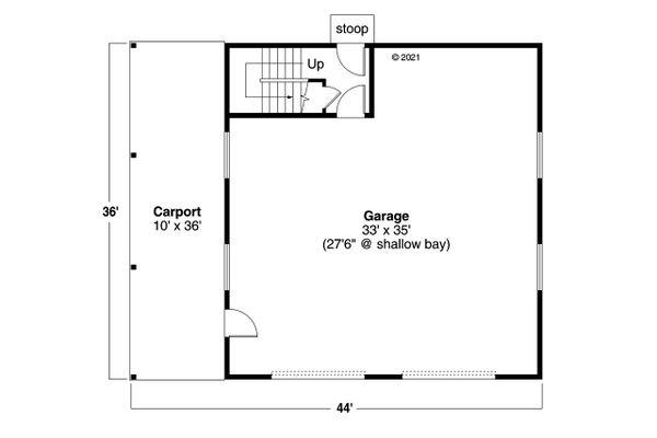 Craftsman Floor Plan - Main Floor Plan #124-1239