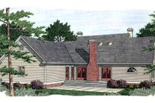 Southern Exterior - Rear Elevation Plan #406-298