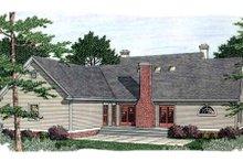 House Plan Design - Southern Exterior - Rear Elevation Plan #406-298