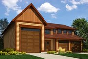 Traditional Style House Plan - 1 Beds 1.5 Baths 4175 Sq/Ft Plan #118-178 Exterior - Front Elevation