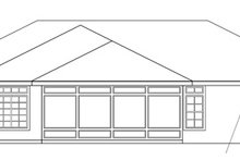 Home Plan - Mediterranean Exterior - Rear Elevation Plan #124-251