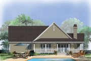 Country Style House Plan - 3 Beds 2 Baths 1898 Sq/Ft Plan #929-623 Exterior - Rear Elevation
