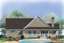 Country Exterior - Rear Elevation Plan #929-623