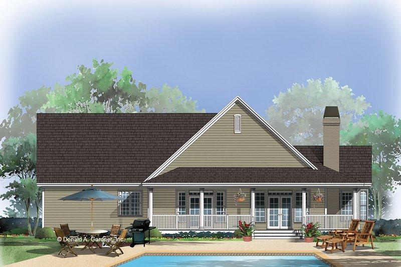Country Exterior - Rear Elevation Plan #929-623 - Houseplans.com