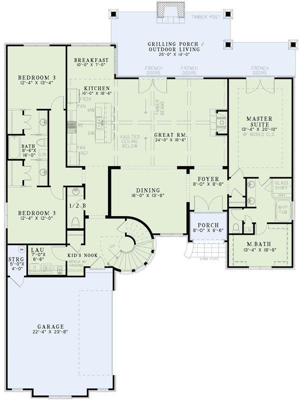 European Floor Plan - Main Floor Plan Plan #17-2499