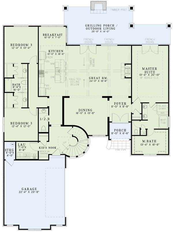 European Floor Plan - Main Floor Plan Plan #17-2499