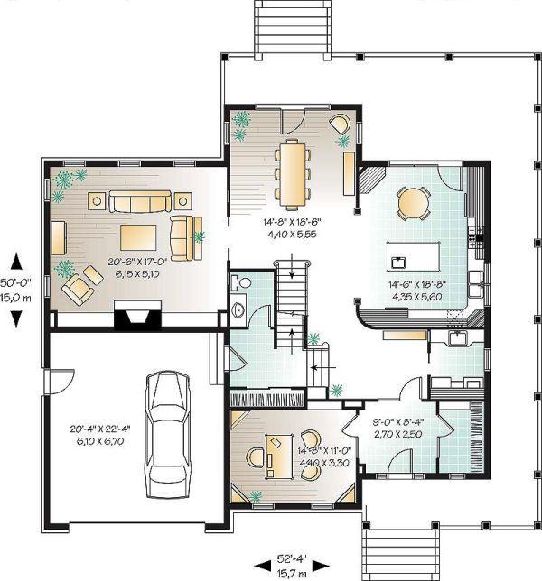 Farmhouse Floor Plan - Main Floor Plan Plan #23-669