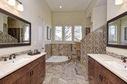 Mediterranean Style House Plan - 5 Beds 4 Baths 3585 Sq/Ft Plan #80-221 Interior - Master Bathroom