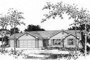 Ranch Style House Plan - 3 Beds 2 Baths 1418 Sq/Ft Plan #22-469 Exterior - Other Elevation
