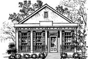 Southern Style House Plan - 3 Beds 2 Baths 1051 Sq/Ft Plan #325-229 Exterior - Front Elevation